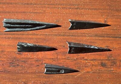 5 Ancient Bronze Viking Arrow Head Tip Artifacts LOT From Dig In Latvia #9