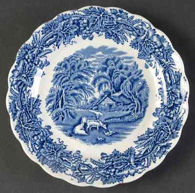 Booths BRITISH SCENERY BLUE (SCALLOPED) Bread & Butter Plate 37830