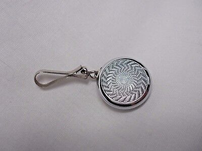 """Vintage Ketcham McDougall Retractable Chatelaine 1"""" Pin Brooch"""