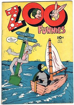 ZOO FUNNIES #3 1946 EARLY Charlton GOLDEN AGE COMIC Funny Animal
