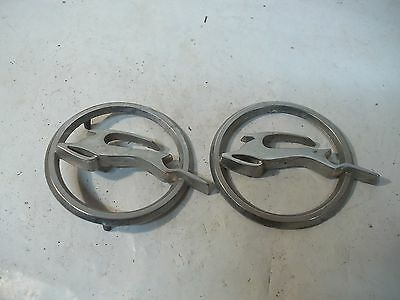 Old Pair Round Metal Car Emblems Impala Logo ?