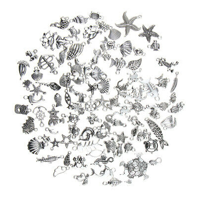 100pcs Sea Animal Style Collection DIY Jewelry for Necklace Bracelet Dangle