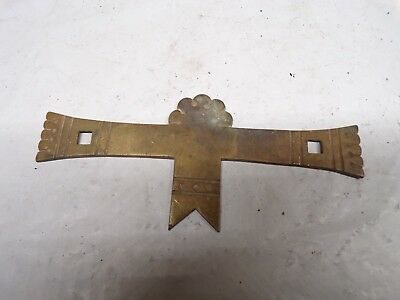 Vintage Shannon Odd Brass Backplate for Furniture Pull Handle