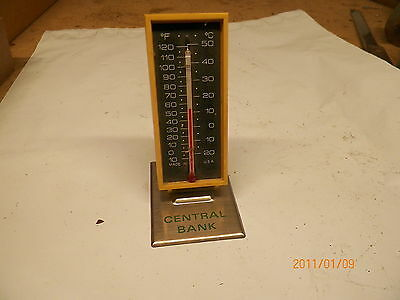 Old Plastic Thermometer Central Bank