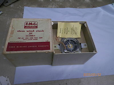 NOS FOMOCO BORG stem Wind Clock for 1951 Ford Car