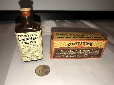 Antique Medicine Dewitt's Compound Iron Pills