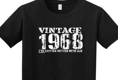 Funny 50th Birthday T Shirt Vintage 1968 Better With Age Dad Mom Brother