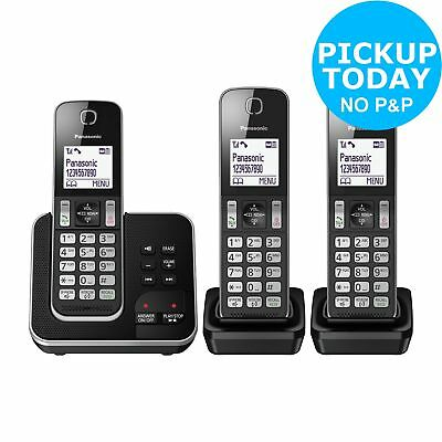 Panasonic KX- TGD323EB Cordless Telephone with Answer Machine - Triple