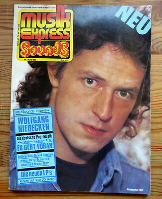 Musik Express Sounds 03/83 Cover:Wolfgang Niedecken,Nena,Ozzy Osbourne,Manfred M
