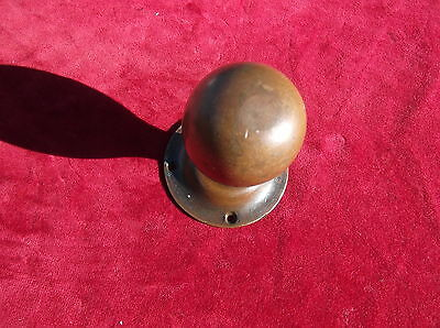 Antique Heavy Brass Door Knob / Old Brass Door Furniture / Brass Door Handle