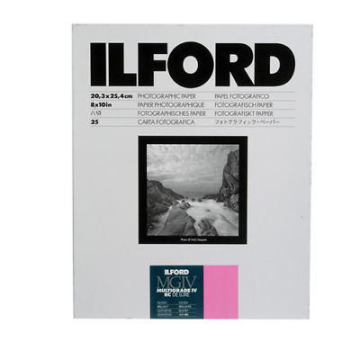 "Ilford Multigrade IV RC DeLuxe Paper Glossy, 8 x 10"", 25 Sheets 1168190"