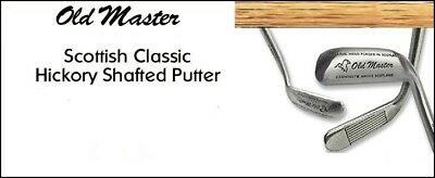 Golf Tournament Prizes - 4 Old Master Scottish Classic Hickory Shafted Putters
