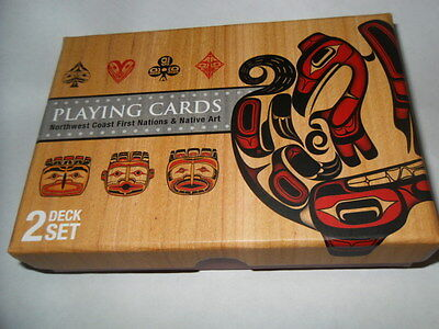 Northwest Coast First Nations % Native Art Playing Cards 2 Deck Set