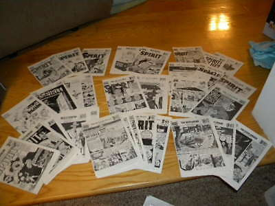 1972 & 73 Wil Eisner's The Spirit Comic Book Section Dailies Lot of 40
