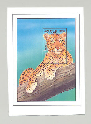 Togo #1728 Leopard, Wild Cats 1v S/S Imperf Chromalin Proof
