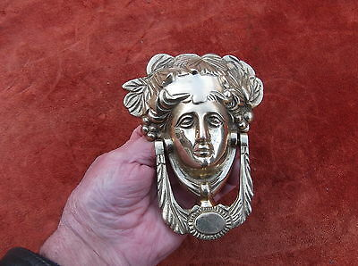 Large Heavy Brass Grecian Godess Door Knocker/roman Godess Door Striker/brass
