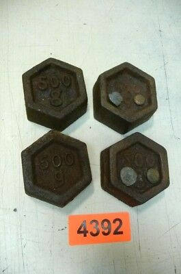 Nr. 4392.  4 x alte Gewichte 500 gr.   Old Weights
