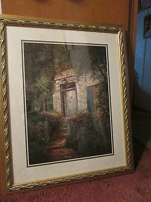 Home Interiors Large 34''x 28 ''  Gold  Framed Mtatted  Picture Jan 7, 2002