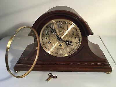 BEAUTIFUL SLIGH PRESIDENTIAL MANTEL CLOCK STYLE, with TRIPLE CHIMING