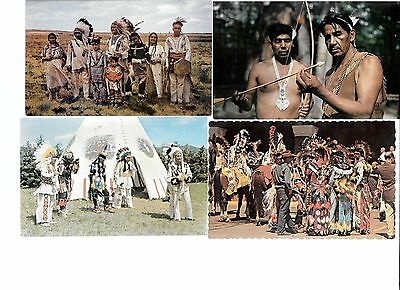 U.S.-183 Chrome postcards- all American Indians-1960s-on(various tribes-unused?)