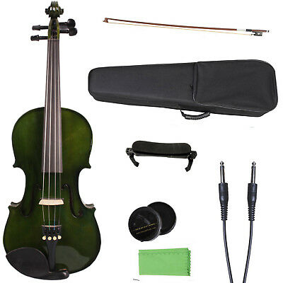 4/4 Electric Acoustic Violin maple Spruce wood Powerful Sound Violin Case Bow