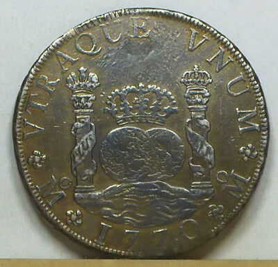 Mexico 8 Reales 1770 Mo-MF Extremely Fine