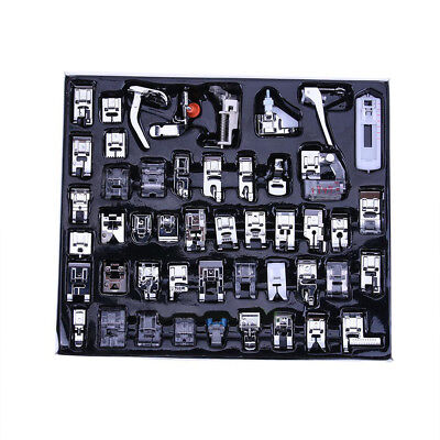 48PCS Domestic Sewing Machine Foot Presser Feet Kit For Brother Singer Janome D2