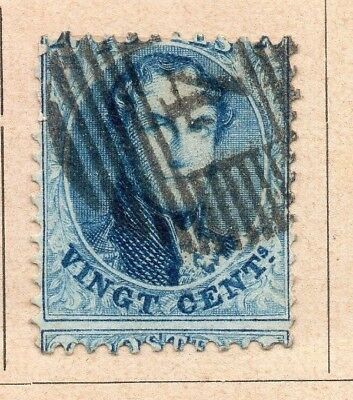 Belgium 1865-66 Early Issue Fine Used 20c. 213891