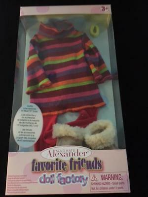"""Nib Madame Alexander Favorite Friends Warm+Toasty Outfit Fits Most 18"""" Dolls"""