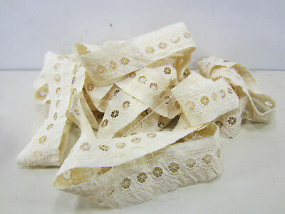 Antique Lot of Cream Colored Edwardian Machine Made Insert Lace    L#164