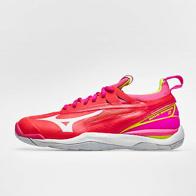 Mizuno Womens Wave Mirage 2 Netball Trainers Sports Shoes Red