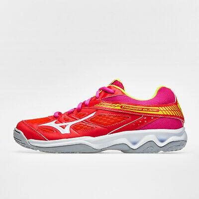 Mizuno Womens Thunder Blade Netball Trainers Sports Shoes Red