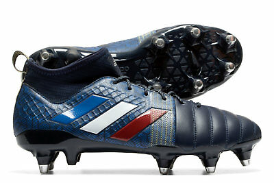 adidas Mens Kakari X Kevlar Soft Ground Rugby Boots Sports Shoes Studs Navy