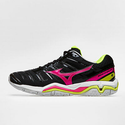 Mizuno Womens Wave Stealth 4 Netball Trainers Sports Shoes Black