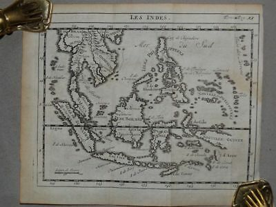 Philippines Asien Asia Malaysia - Kupferstich Karte engraving Map Chevigny 1723