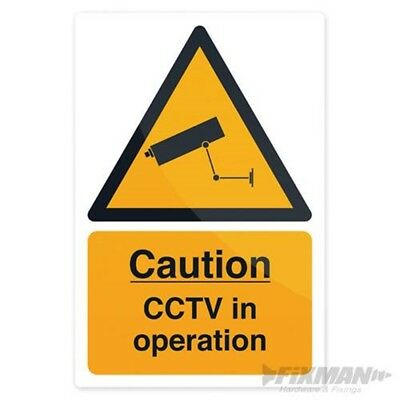Fixman Cctv In Operation Sign 200 x 300mm Self-adhesive - Cctv Operation x
