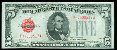 Fr. 1528 1928-C $5 Five Dollars Legal Tender United States Note (1620236)