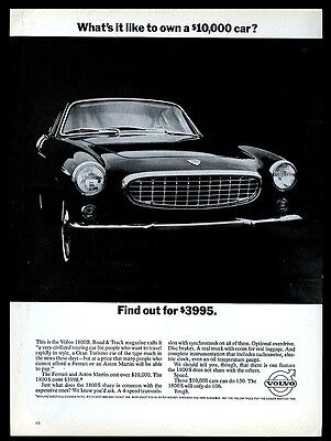 1965 Volvo 1800S car photo Find Out for 3995 vintage print ad