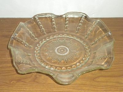 Federal Depression Glass Columbia Ruffled Bowl Clear box 5