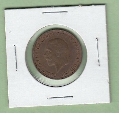 1936 Great Britain 1/2 Penny coin - AU