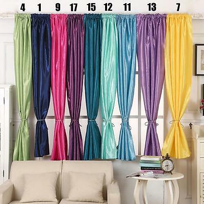 Nice Window Kitchen Bathroom Curtain Door Divider Sheer Panel Drapes Curtain SS