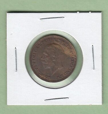 1935 Great Britain 1/2 Penny coin - UNC