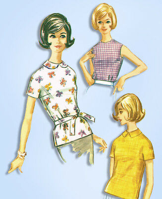 1960s Vintage McCall's Sewing Pattern 5945 Easy Misses Blouse Set Size 34 Bust