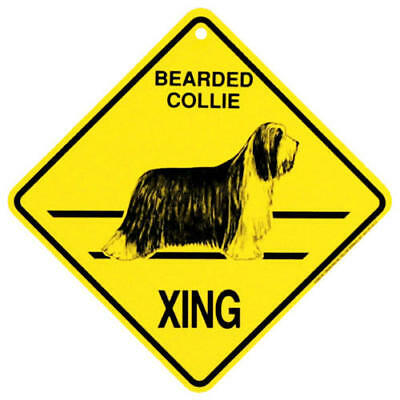 2017 Bearded Collie Xing Sign,   by KC Creations