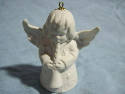 1976 Goebel ANGEL BELL ORNAMENT White Bisque FREE SHIPPING