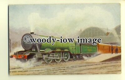 ry1069 -L.&.N.E.R. Scotch Express & Engine No.1470 leaves King's Cross- postcard