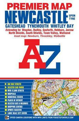 Newcastle Upon Tyne Premier Map (A-Z Road Map) by Geographers A-Z | Map Book | 9