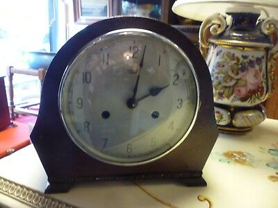 Wooden Art Deco Smiths Mantle Clock For Spares Or Repair