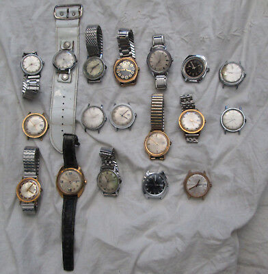 Lot of 18 Vintage Timex Wristwatches