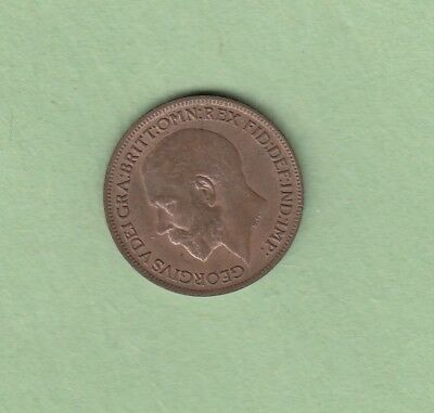 1920 Great Britain One Farthing Coin - UNC